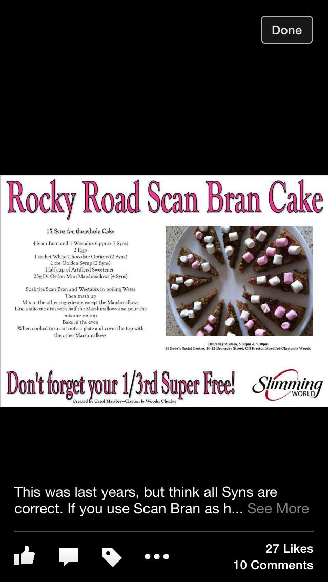 Rocky road scan bran cake! #slimmingworld