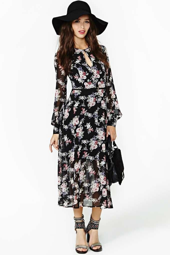 Dark Meadows Maxi Dress