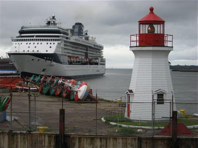 Celebrity Summit docked in Saint John, New Brunswick.