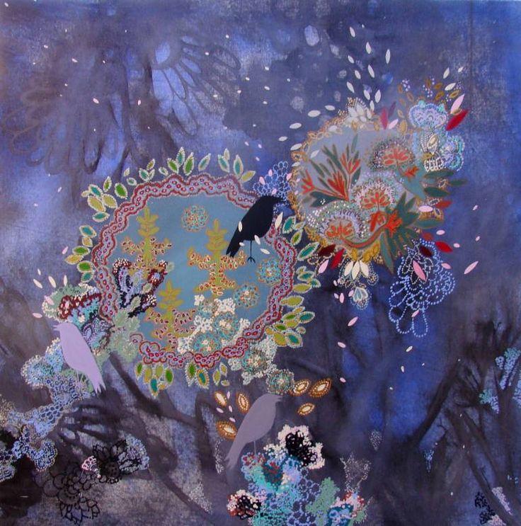 """Saatchi Art Artist Lia Porto; Painting, """"Zoom en el bosque azul (zoom in the blue forest) SOLD"""" #art"""
