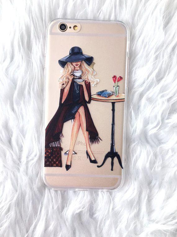 Transparent IPhone caseFashion IPhone case by RongrongIllustration