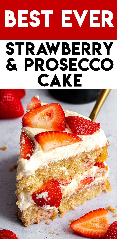 Gluten Free Prosecco and Strawberry Cake Recipe (dairy