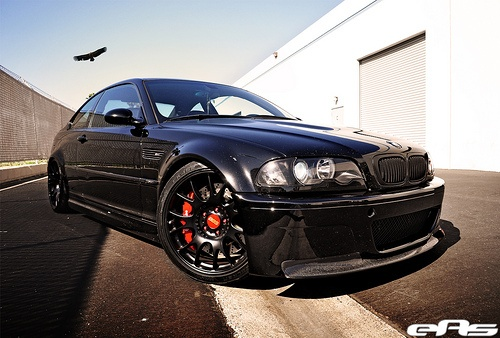Black e46 M3 w/ Matte Black BBS CH-R Wheels 1 by european auto source, via Flickr