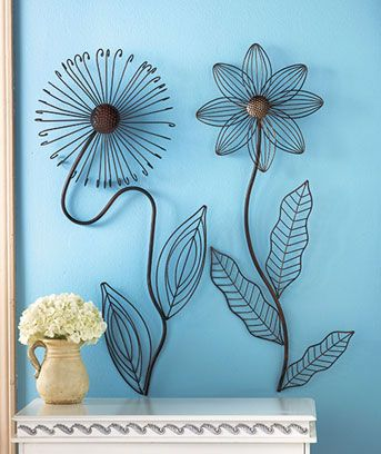 metal flower wall sculptures or garden stakes ea these are for