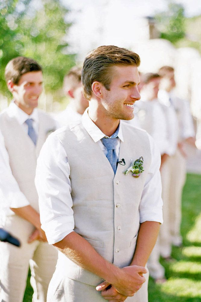 Mens Wedding Attire For Beach Celebration ❤ See more: http://www.weddingforward.com/mens-wedding-attire/ #weddings