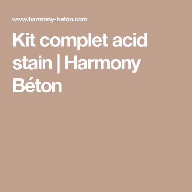 Kit complet acid stain | Harmony Béton