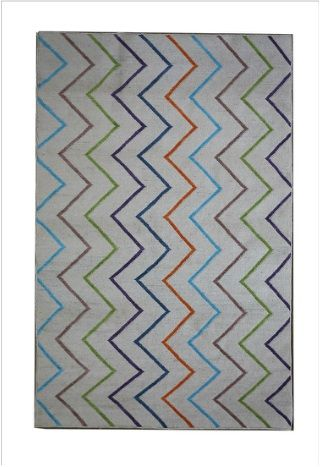 Charming Flat Weave Multi Chevron rug is full of colors and pattern with lines. Get this beautiful rug online from our shop at Richmond, Melbourne.  #rugsmelbourne #melbournerugs #rugstoremelbourne