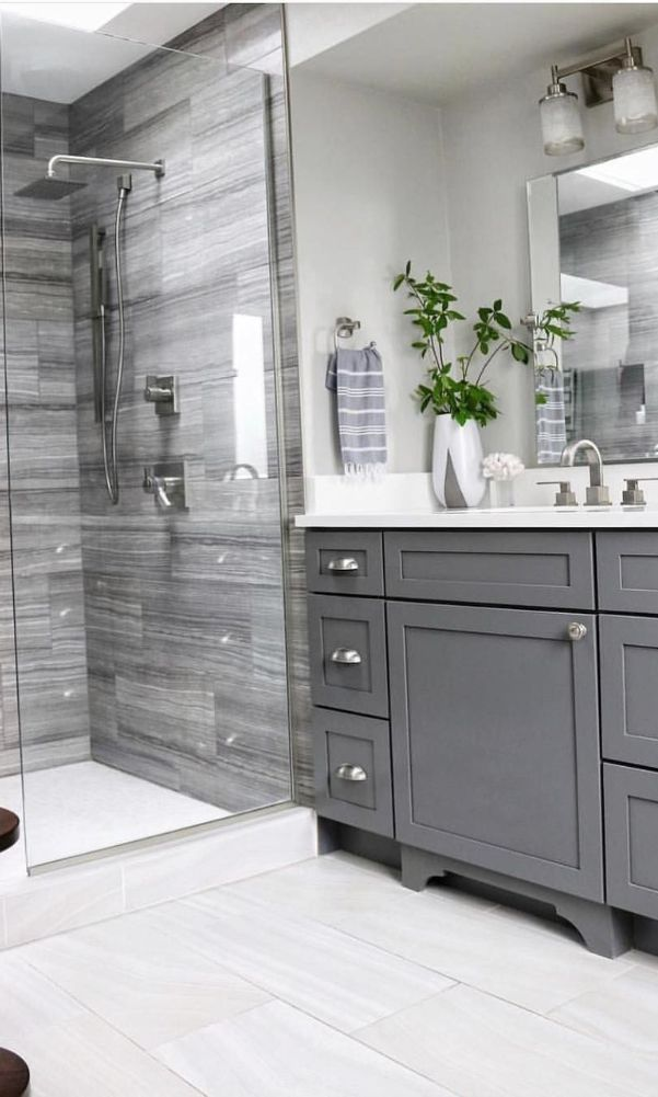 60+ Beautiful Gray Bathroom Ideas with Stylish Color ...