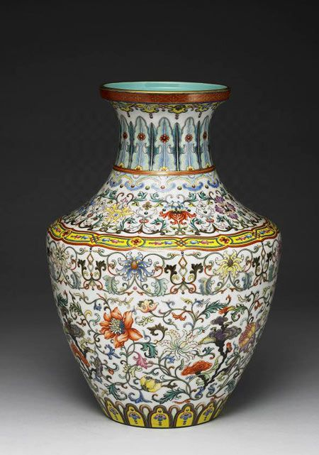 A fine porcelain from the reign of the Qianlong Emperor (1711-1799 CE) of the Qing dynasty