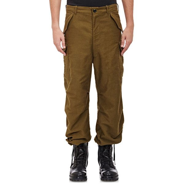 Faith Connexion Men's Military Oversized Cargo Pants (66.430 RUB) ❤ liked on Polyvore featuring men's fashion, men's clothing, men's pants, men's casual pants, green, mens wide leg pants, mens green pants, mens army cargo pants, mens green cargo pants and mens zip off cargo pants