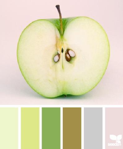 #Colour: Granny Smith Apple tones ~ design seeds -