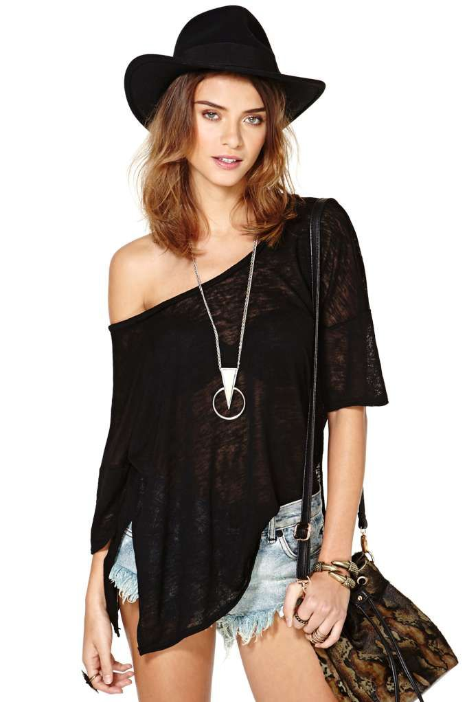 Get On Knit Tee - Black - 50% off - only $19.00