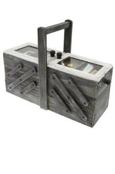Boite à Couture en bois Repliable à compartiments: Amazon.fr: Cuisine & Maison