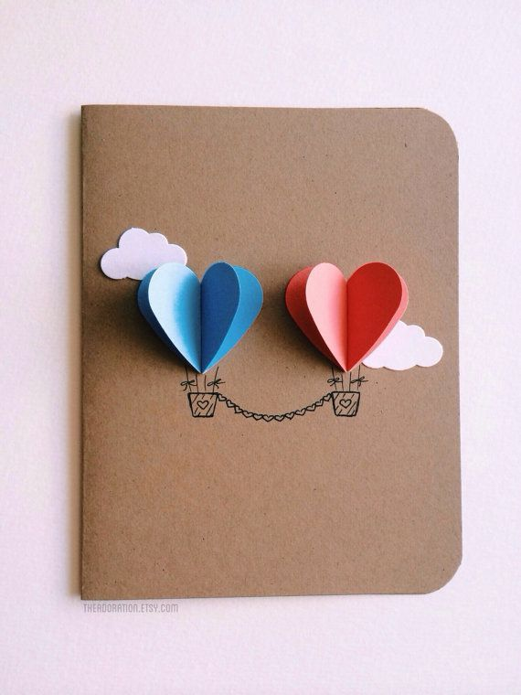 heart air balloons card air balloon card by theadoration on etsy 4652