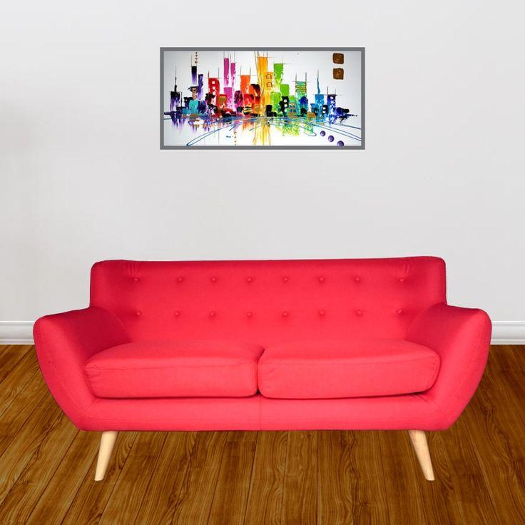 Sof capri sof para sala moderno en microfibra para for Sofa para sala de tv