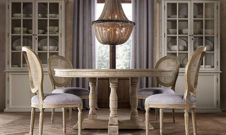 restoration hardware x back chair round table willems 60 round