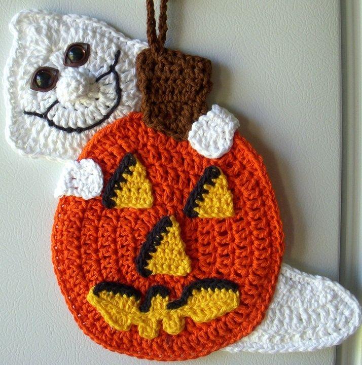 Crochet pumpkin and ghost, | Crochet patterns
