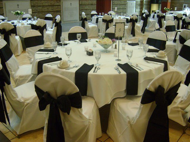 white black table setup at st charles