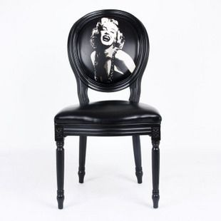 www.limedeco.gr so fabulous chair with Marilyn's Monroe picture