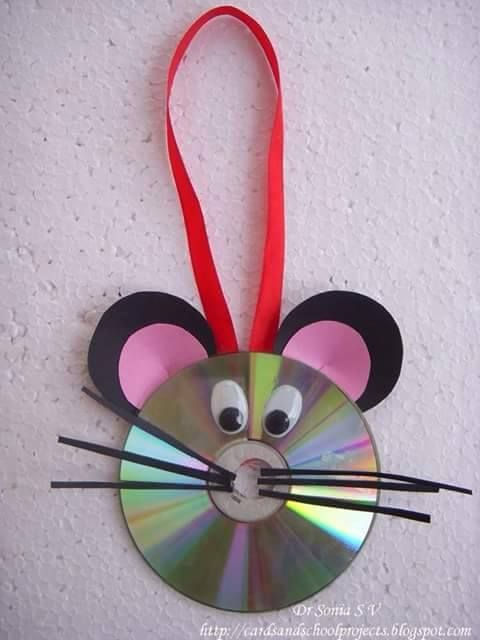 ratinho cd reciclado
