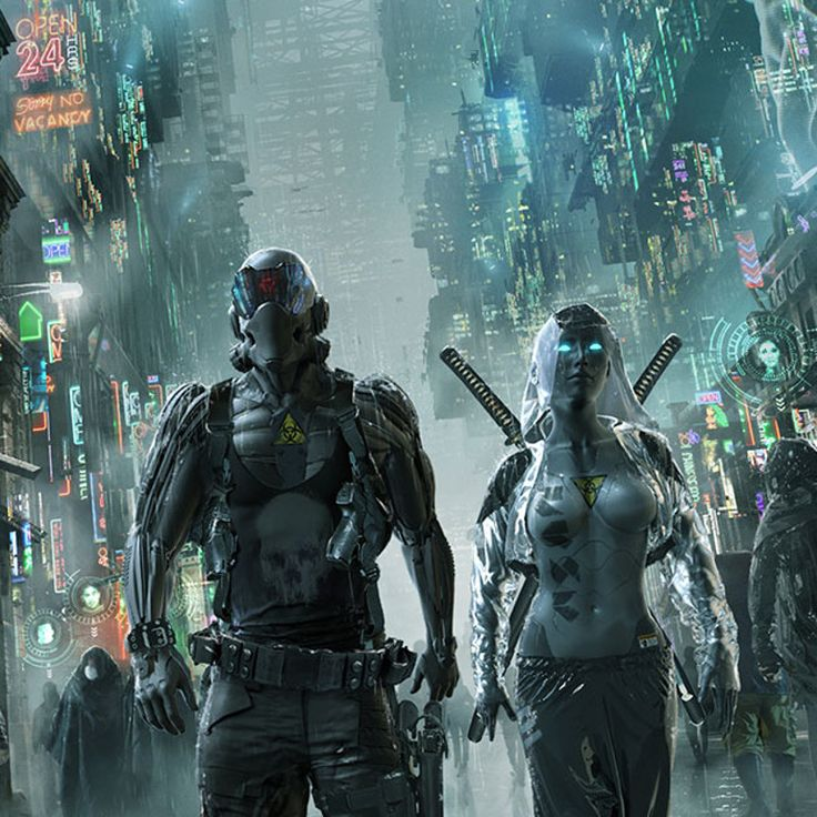 "Cover art for the cyberpunk rpg, ""Interface Zero"""