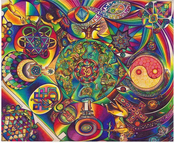 ??? American Hippie Bohemian Psychedelic Art Pattern Wallpaper ...