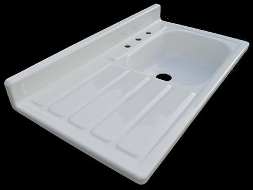 Drainboard Kitchen Sink : Reproduction 1955 drainboard kitchen sink ? new from Nelson?s