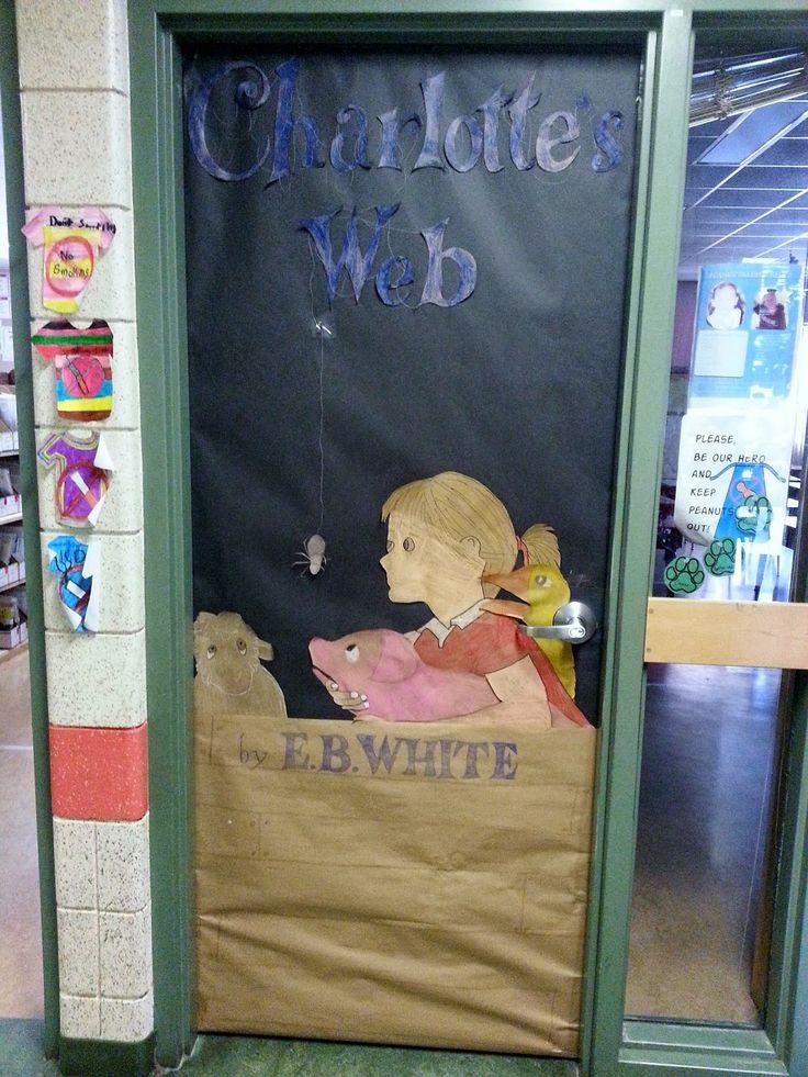 Teacher Classroom Decor Websites ~ Charlotte s web book themed door school bulletin boards