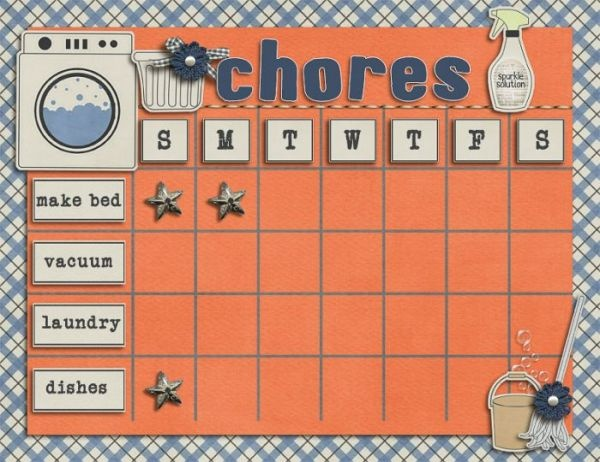 chore wheel chronicles of a babywise mom