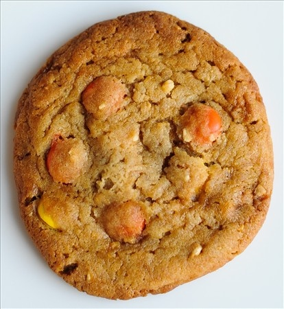 butter icing peanut butter reeses pieces giant cookiefor one recipes ...