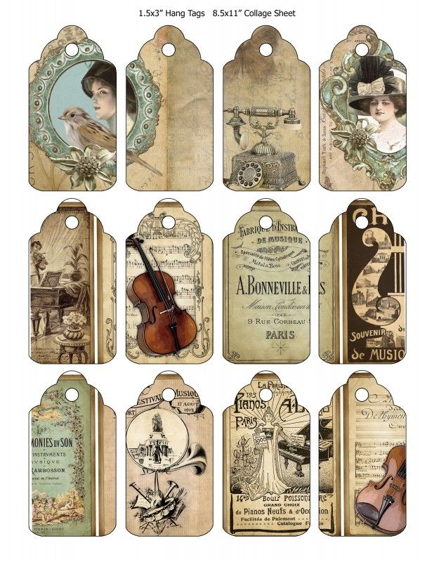 Sheet tags of music | Teksten & Spreuken | Nostalgie & Brocante