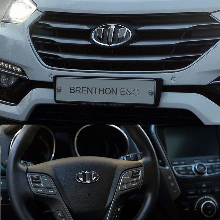 BRENTHON Horn Cap Front Rear New Emblems 3 pcs For Hyundai Santa Fe DM & XL 2016 #BRENTHON
