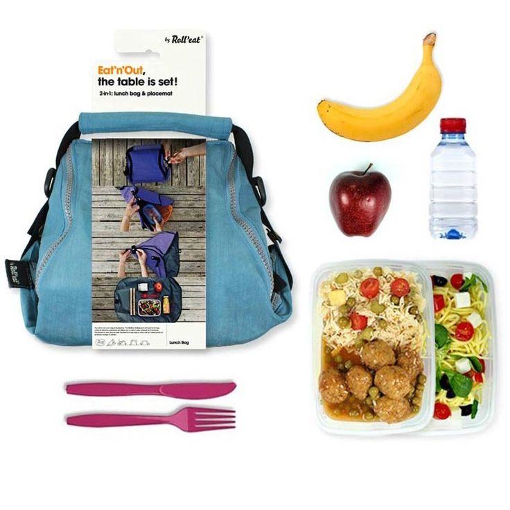 Roll'eat Eat'n'Out lunch tas ideaal om jelunchpakket mee te nemen! Tijdens…