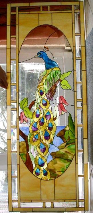 stained glass animals | Peacock | Animals Birds - Stained Glass | Pinterest