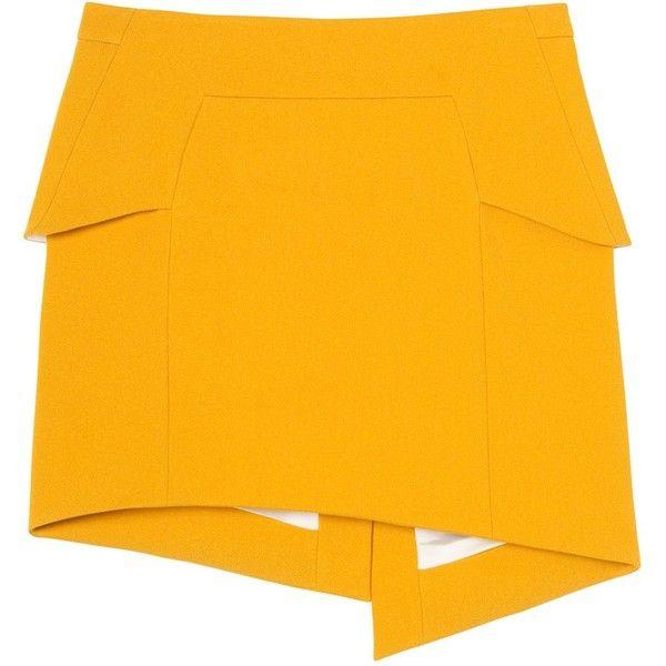 Mustard crepe skirt (£140) ❤ liked on Polyvore featuring skirts, layered skirt, zipper skirt, crepe skirt, mustard skirt and mustard yellow skirt