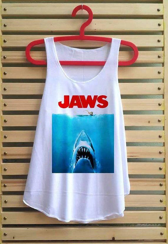 Jaws shirt tank top tshirt clothing vest tee tunic by TCFABRIC, $14.99