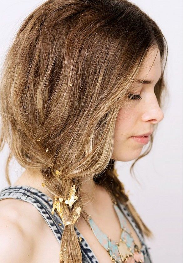 Gold-speckled braid