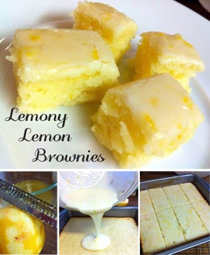 DIY Lemony Lemon Brownies