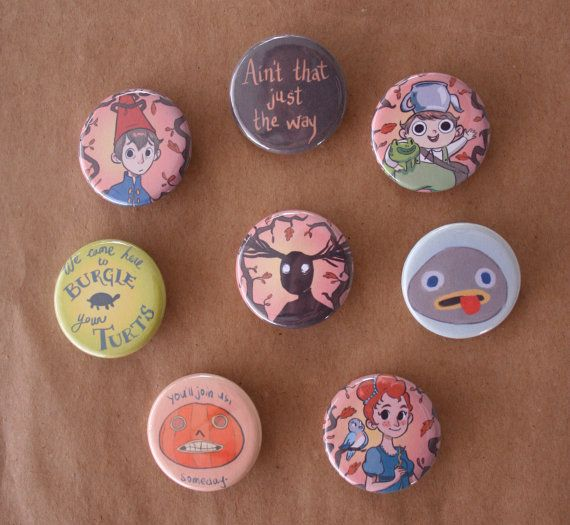 Over the Garden Wall pins set of 8 by lisaveeee on Etsy