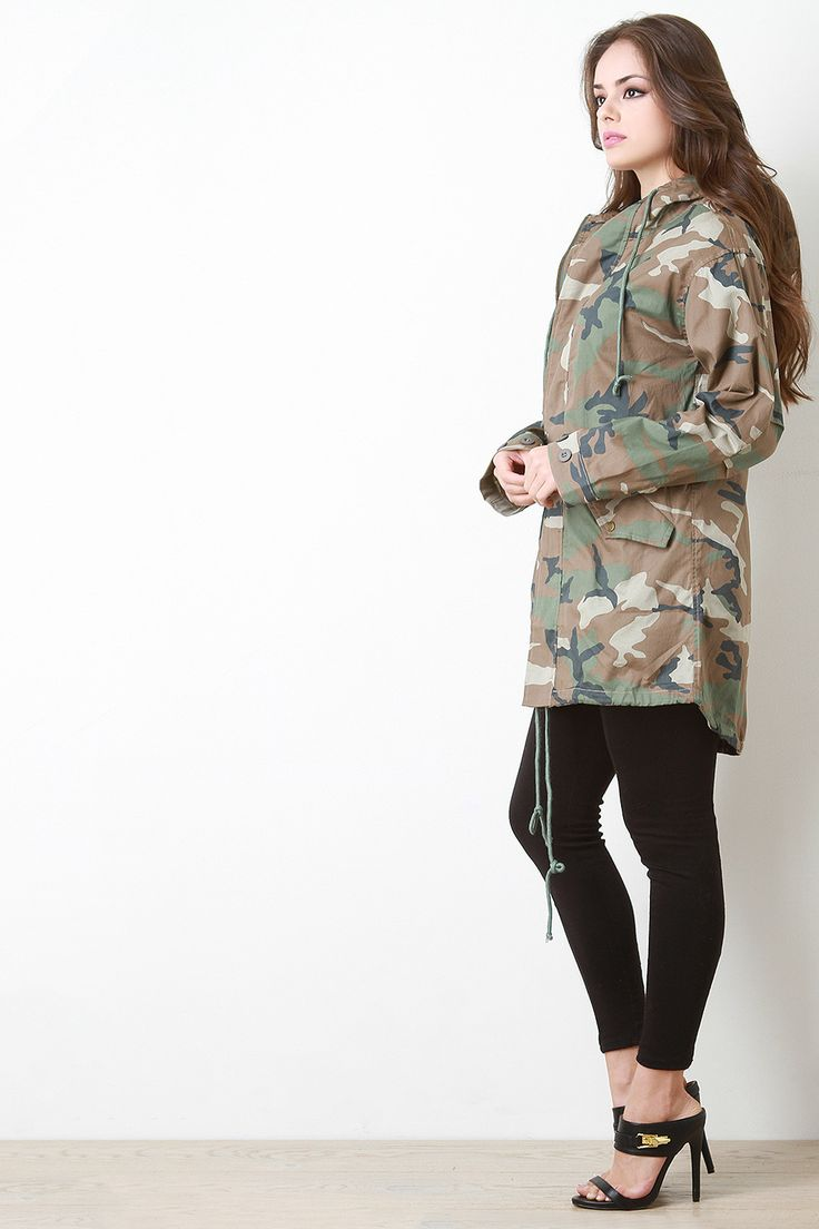 Just landed at Gioellia Hooded Camouflage... Shop here  http://gioellia.com/products/ung71908?utm_campaign=social_autopilot&utm_source=pin&utm_medium=pin