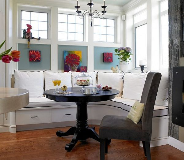 22 Ideas Of Astounding Breakfast Nook Furniture For Dining Room: Traditional Breakfast Nook Vancouver