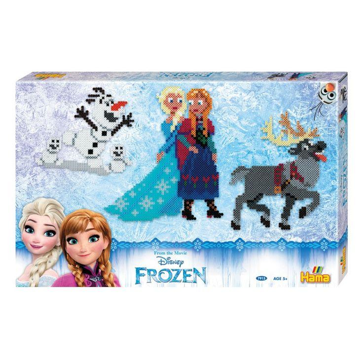 Maak de mooiste figuren uit Disney Frozen met deze uitgebreide strijkkralenset van Hama. Leg de kralen op het legbordje zoals op het voorbeeld en breng de prinsessen Anna enElsa en hun favoriete dieren tot leven. Laat een volwassene de figuren strijken en speel de leukste avonturen uit de film Disney Frozen na! De set bevat 6000 strijkkralen, 2 legbordjes, een voorbeeld, een strijkpapiertje en een handleiding. Afmeting: verpakking 43 x 28 x 3 cm - Hama Strijkkralenset - Disney Frozen…