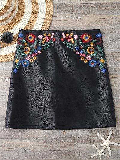 GET $50 NOW | Join Zaful: Get YOUR $50 NOW!http://m.zaful.com/embroidered-faux-leather-miniskirt-p_267684.html?seid=3471672zf267684