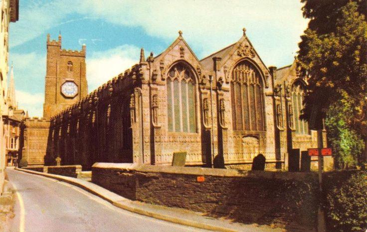 Postcard LAUNCESTON Cornwall St. Mary Magdalene Church