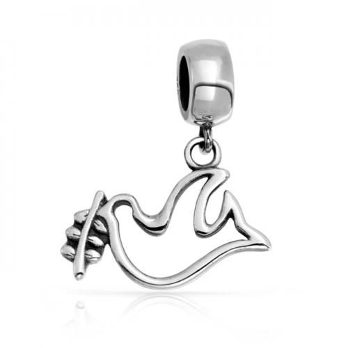 Bling Jewelry 925 Sterling Open Design Dove of Peace Dangling Charm Fits Pandora