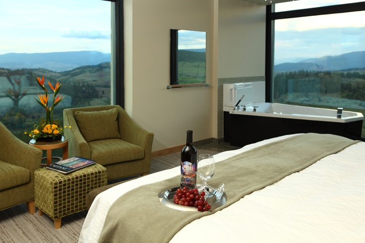 Stay at a fancy hotel! Sparkling Hill Resort, Vernon, BC