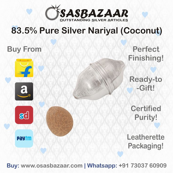 17 best silver by osasbazaar images on pinterest luxury silver 835 pure silver nariyal with natural supari by osasbazaar because it is auspicious fandeluxe Choice Image
