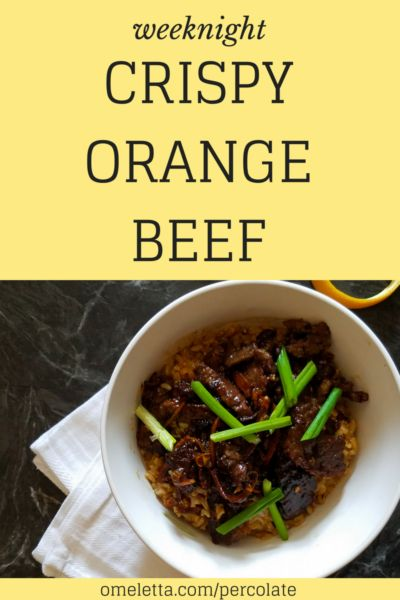 This Weeknight Crispy Orange Beef is a great option for a quick, simple dinner recipe. It comes together so fast, even faster than your local Chinese delivery guy can roll up on your doorstep!
