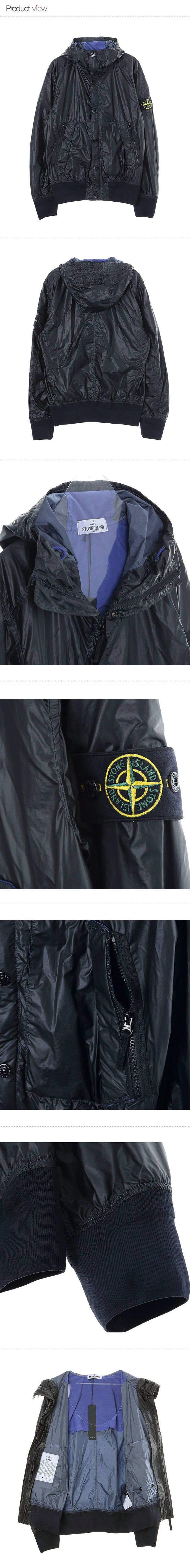 Stone Island 44b30 Garment Dyed Mussola Gommata Jacket In Black