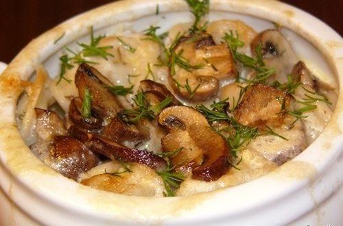 Как приготовить грибы в горшочке в духовке